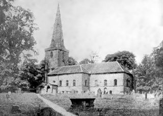 Old picture of Allesley Church
