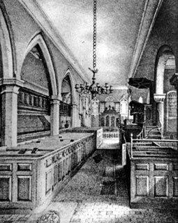 Old picture of Allesley Church interior